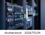 network servers in a data... | Shutterstock . vector #102675134