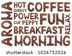 words from coffee beans on... | Shutterstock . vector #1026752026