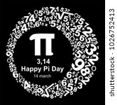 happy pi day  celebrate pi day. ... | Shutterstock .eps vector #1026752413