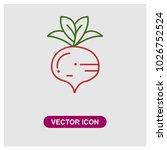 radish vector icon | Shutterstock .eps vector #1026752524