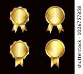 certificate template  vector... | Shutterstock .eps vector #1026757858