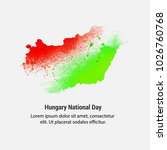 hungary national day with nice... | Shutterstock .eps vector #1026760768