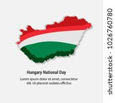 hungary national day with nice... | Shutterstock .eps vector #1026760780
