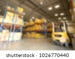 blur image of warehouse   Shutterstock . vector #1026770440
