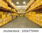 blur image of warehouse   Shutterstock . vector #1026770464