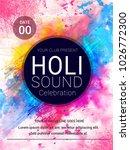 festival of holi celebration... | Shutterstock .eps vector #1026772300