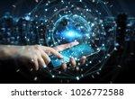 businessman on blurred... | Shutterstock . vector #1026772588