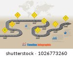 business road signs map... | Shutterstock .eps vector #1026773260