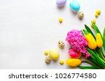 easter greeting card mock up ...   Shutterstock . vector #1026774580