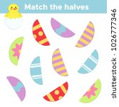 match the halves  colorful... | Shutterstock .eps vector #1026777346