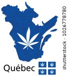quebec map province of canada... | Shutterstock .eps vector #1026778780