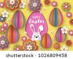 easter holiday banner design... | Shutterstock .eps vector #1026809458