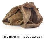 dirty white sock isolated on... | Shutterstock . vector #1026819214