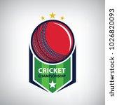 cricket championship logo.... | Shutterstock .eps vector #1026820093