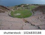 assos antique city ancient... | Shutterstock . vector #1026830188