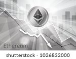 ethereum cryptocurrency in the... | Shutterstock . vector #1026832000