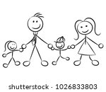 happy family naive sketchy... | Shutterstock .eps vector #1026833803