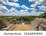 on top of one the caana pyramid ... | Shutterstock . vector #1026839890