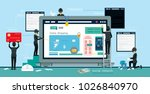 hackers steal computer data and ... | Shutterstock .eps vector #1026840970