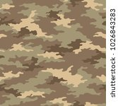 seamless camouflage pattern....   Shutterstock .eps vector #1026843283
