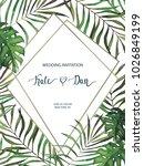 wedding card. invitation... | Shutterstock .eps vector #1026849199