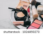 set of decorative cosmetic.... | Shutterstock . vector #1026850273