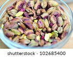 ripe pistachio  roasted with... | Shutterstock . vector #102685400