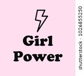 """girl power"" text with ray... 