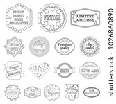 different label outline icons... | Shutterstock . vector #1026860890