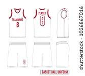 vector template basketball... | Shutterstock .eps vector #1026867016