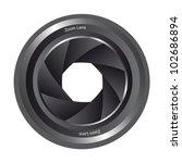 blackk camera shutter isolated...   Shutterstock .eps vector #102686894