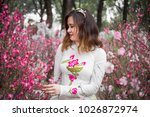 the young girl wear ao dai in... | Shutterstock . vector #1026872974