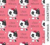 seamless pattern with cute... | Shutterstock .eps vector #1026875953