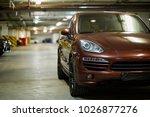 new brown sports car  standing... | Shutterstock . vector #1026877276