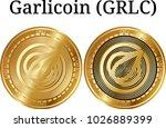 set of physical golden coin...   Shutterstock .eps vector #1026889399