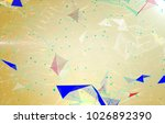 abstract background polygonal.... | Shutterstock . vector #1026892390