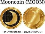 set of physical golden coin...   Shutterstock .eps vector #1026895930