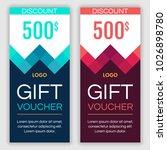 gift voucher template. vector... | Shutterstock .eps vector #1026898780