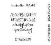 modern calligraphy alphabet.... | Shutterstock .eps vector #1026901438
