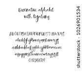 modern calligraphy alphabet.... | Shutterstock .eps vector #1026901534