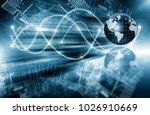 best internet concept of global ... | Shutterstock . vector #1026910669