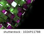 3d render abstract background.  ...   Shutterstock . vector #1026911788