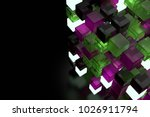 3d render abstract background.  ...   Shutterstock . vector #1026911794