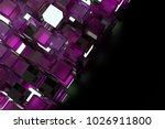 3d render abstract background.  ...   Shutterstock . vector #1026911800