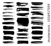 vector paint brush strokes ... | Shutterstock .eps vector #1026917059
