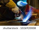welder  craftsman  erecting... | Shutterstock . vector #1026920008