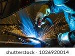 welder  craftsman  erecting... | Shutterstock . vector #1026920014