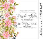 marriage invitation card with... | Shutterstock .eps vector #1026921649