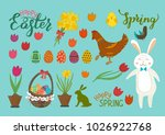 easter  spring set. cute hand...   Shutterstock .eps vector #1026922768