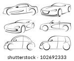 vector cars | Shutterstock .eps vector #102692333